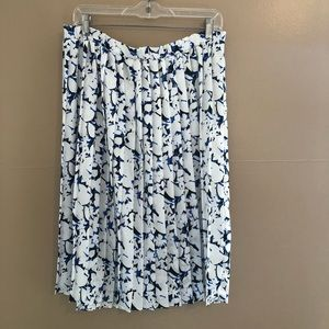 Dresses & Skirts - Vintage Floral Pleated Midi Skirt Size 8